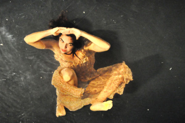 An actress for the participatory international production of Fuerza Bruta in Buenos Aires, Argentina.